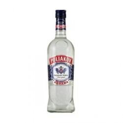 6 Bouteilles de Poliakov Vodka Premium Pur Grain 37,5° 6 x 70 CL