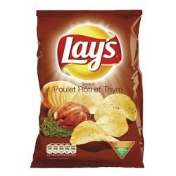 20 Paquets de Chips Lay's Goût Poulet Rôti et Thym 20 x 45 G