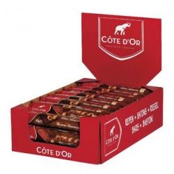 32 Barres Chocolatées de Côte d'Or Chocolat Noir et Noisettes 32 x 45 G