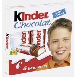 80 Barres Chocolatées Kinder Chocolat 20 étuis de 4 Barres