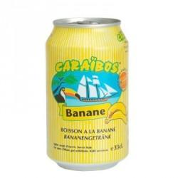 24 Canettes de Caraïbos Goût Banane 24 x 33 CL