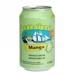 24 Canettes de Caraïbos Goût Mangue 24 x 33 CL