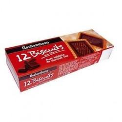 4 Paquets de Biscuits avec Tablette au Chocolat Noir Rochambeau 4 x 150 G