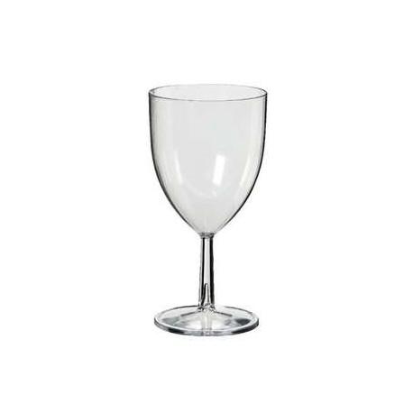 6 verres vin en plastique rigide plastico easystyle 20. Black Bedroom Furniture Sets. Home Design Ideas
