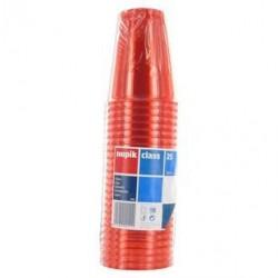 25 Gobelets en Plastique Rouge Nupik 25 CL