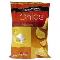 28 Paquets de Chips Nature Rochambeau 28 x 200 G