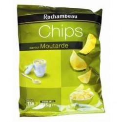 20 Paquets de Chips à la Moutarde Rochambeau 20 x 135 G