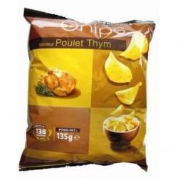 20 Paquets de Chips au Poulet Thym Rochambeau 20 x 135 G