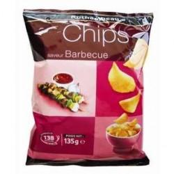 20 Paquets de Chips Barbecue Rochambeau 20 x 135 G