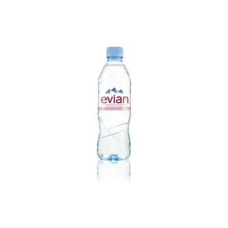 30 Bouteilles d'Evian Eau Minérale Plate 30 x 50 CL