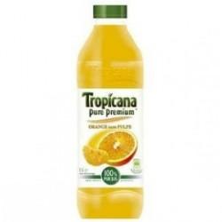 6 Bouteilles de Tropicana Orange Sans Pulpe 6 x 1 L