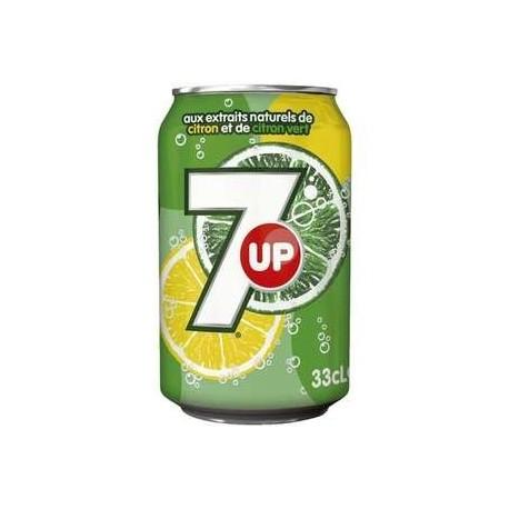 24 Canettes de Seven Up 24 x 33 CL