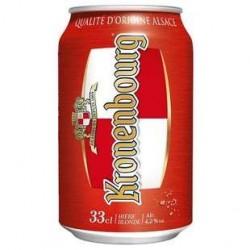 24 Canettes de Kronenbourg Bière Blonde Standard 4,2° 24 x 33 CL