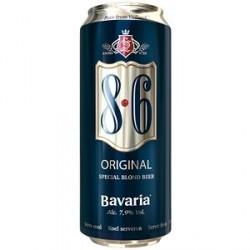24 Canettes de Bavaria 8.6 Original Bière Blonde 7,9° 24 x 50 CL