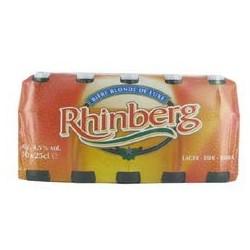 20 Bouteilles de Rhinberg Bière Blonde 20 x 25 CL