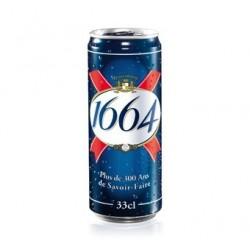 24 Canettes de 1664 Bière Blonde 5.5° 24 x 33 CL
