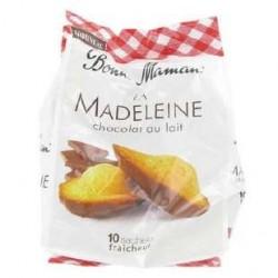 10 Madeleines en Sachets Individuels au Chocolat au Lait Bonne Maman 300 G