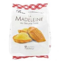 12 Madeleines Sachets Individuels au Beurre Frais Bonne Maman 300 G