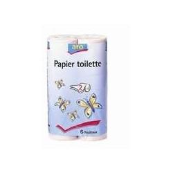 8 Paquets de 6 Rouleaux de Papier Toilette 2 Plis Rose Aro