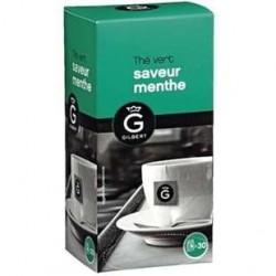 30 Sachets de Thé Vert Menthe Gilbert
