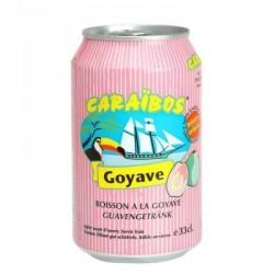 24 Canettes de Caraïbos Goût Goyave 24 x 33 CL