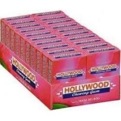 20 Paquets de Chewing-gum Hollywood Fraises des Bois