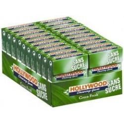 20 Paquets de Chewing-gum Hollywood Green Fresh Sans Sucres