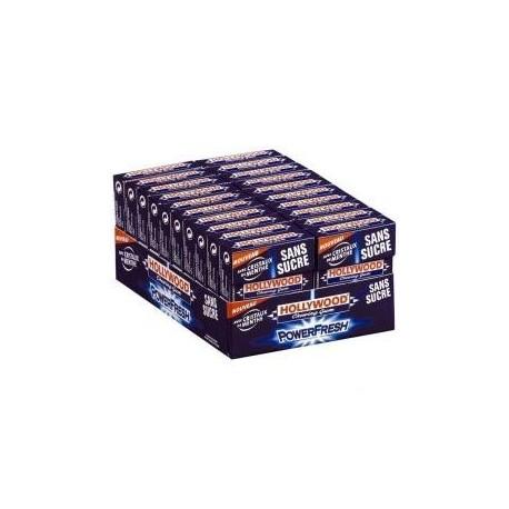 20 Paquets de Chewing-gum Hollywood Power Fresh Sans Sucres