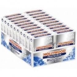 20 Paquets de Chewing-gum Hollywood Blancheur Menthe Polaire Sans Sucres