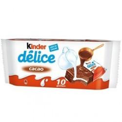 Kinder Delice 10 Barres Cacao Riche en Lait 420 G