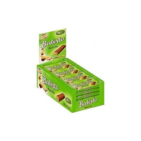 20 Barres Chocolatées Balisto Muesli Mix 20 x 37 G