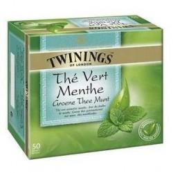 50 Sachets de Thé Vert Menthe Twinings