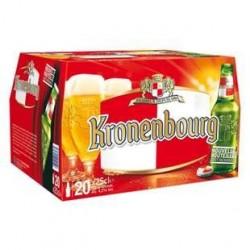 20 Bouteilles de Bière Kronenbourg 4.2° 20 x 25 CL