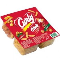 3 Paquets de Curly Club Cacahuète et Dixi Tomate 3 x 75 G