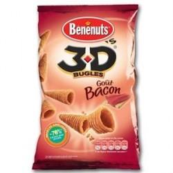 6 Paquets de 3D'S Goût Bacon BENENUTS 6 x 85 G