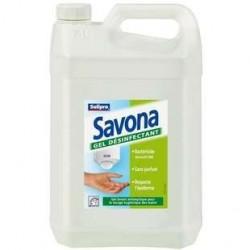 5 Litres de Gel désinfectant Antiseptiques Mains Savona 5 L