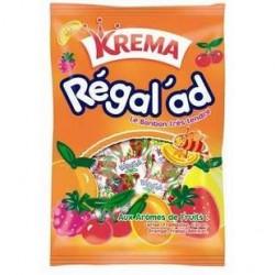 12 Paquets de Bonbons Régalad Krema aux Arômes de Fruits 12 x 150 G
