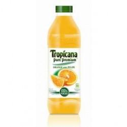 6 Bouteilles de Tropicana Pure Premium Orange avec Pulpe 6 x 1 L