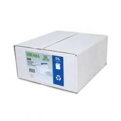 500 Enveloppes DL F45x100 Recyclé Blanc Sigma 80 G