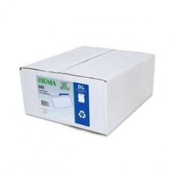 500 Enveloppes DL Recyclé Blanc Sigma 80 G