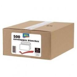 500 Enveloppes DL F35x100 Blanc Aro 80 G