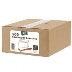 500 Enveloppes DL Blanc Aro 80 G