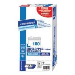 100 Enveloppes Imprimables DL F45x100 GPV France 80 G