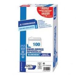 100 Enveloppes Imprimables DL GPV France 80 G