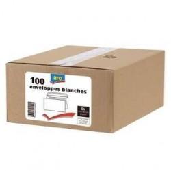 100 Enveloppes DL Blanc Aro 80 G