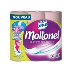 9 Rouleaux de Papier Toilette Rose Moltonel