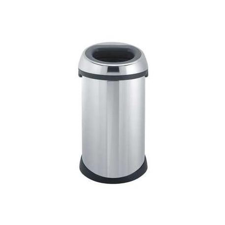 poubelle open top bin en inox brabantia 50 l livraison de sacs poubelle avec clicmarket. Black Bedroom Furniture Sets. Home Design Ideas