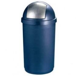 Poubelle Boule Bleu Argent Curver 50 L