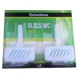 2 Blocs WC avec Javel Citron Vert Rochambeau
