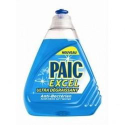 4 Bouteilles de Liquide Vaiselle Anti-Bactérien Paic Excel 4 x 500 ML